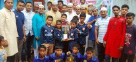 মীরবক্সটুলায় জুনিয়র ফুটবল টুর্ণামেন্টের পুরস্কার বিতরণ অনুষ্ঠিত